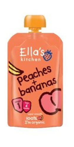 Ellas Kitchen S1 Peaches & Bananas 120g - Vitalityfoods