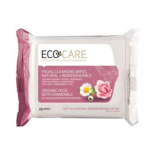 ECOCARE Rose & Chamomile 25wipes - Vitalityfoods