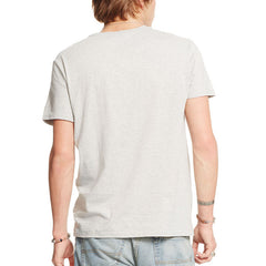 Cotton Jersey Graphic Tee - Granite Heather