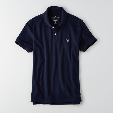 Flex Solid Pique Polo - Blue