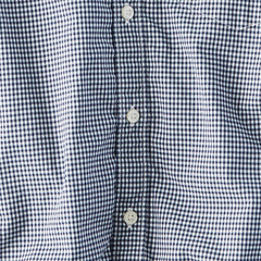 Check Button Down Shirt - Navy