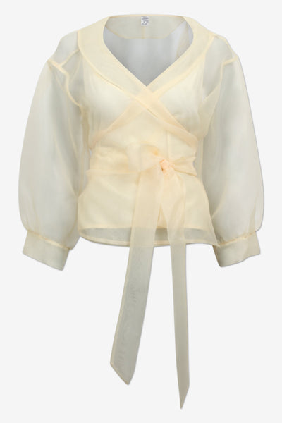 Milou Chiffon Yellow Top