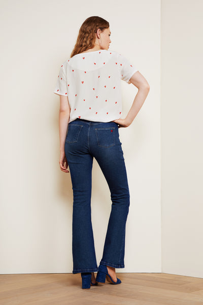 Eva Flare Denim Blue Jeans