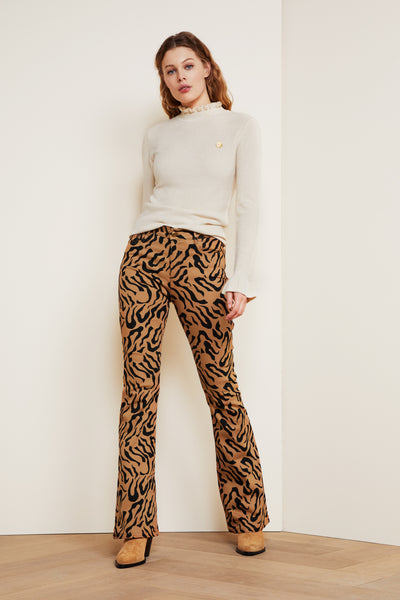 Eva Tiger Dot Flares