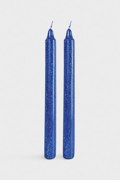 Glitter Candles Set Blue