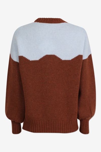cirkeline brown and blue soft knit by Baum