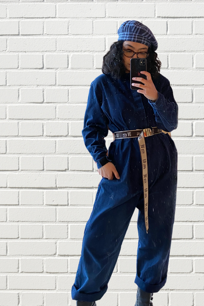 God Bless Cowgirls Jumpsuit Navy