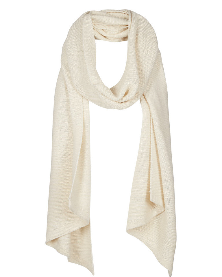 DAMSON PLUM SCARF BY NUMPH IN CREAM PRISTINE