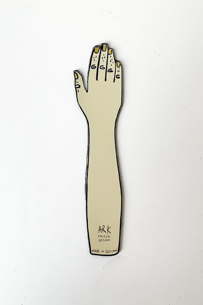 Palm Reader Bookmark Black/Cream