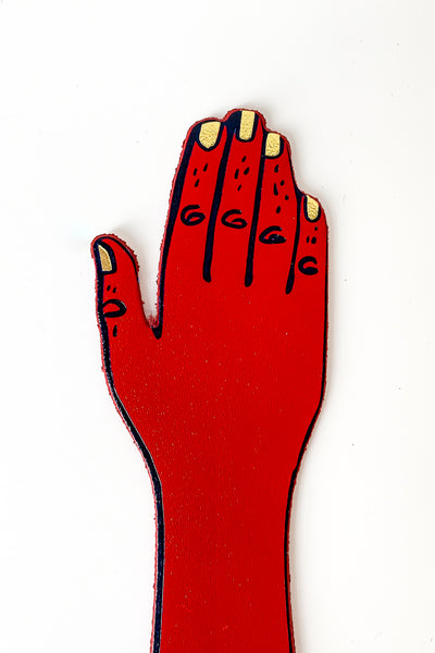 Palm Reader Bookmark Red