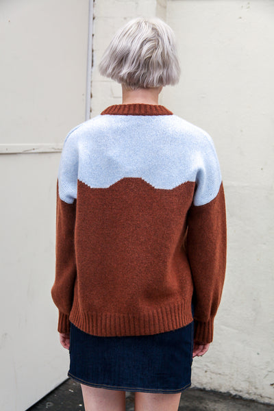 Cirkeline Brown Blue Knit