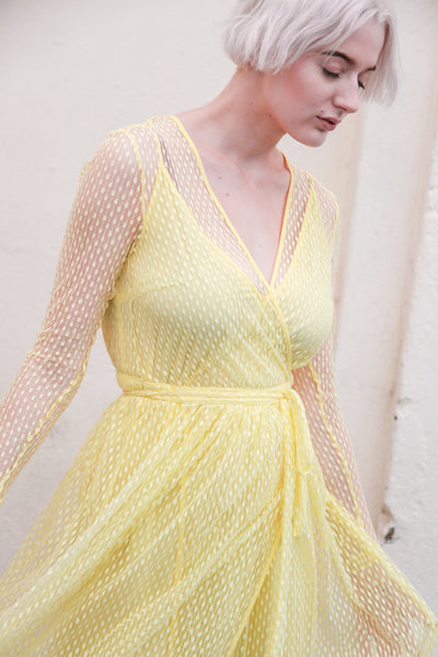 Anneline Wax Yellow Dress