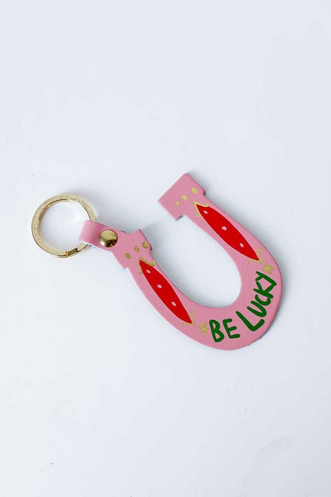 Be Lucky Keyring Pink