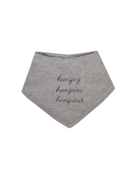 hungry hungrier hungriest bandana style bib by The English Tee Shop