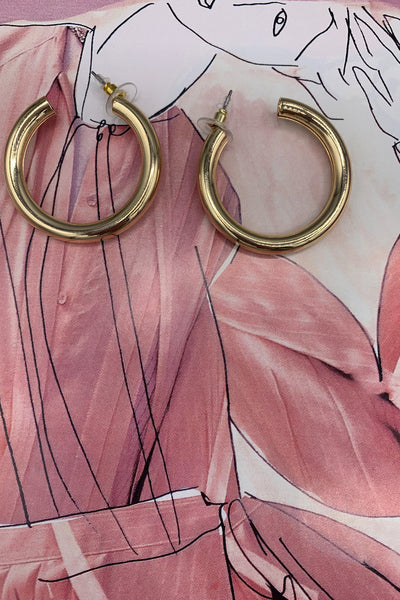 Chunky Hoops Earrings