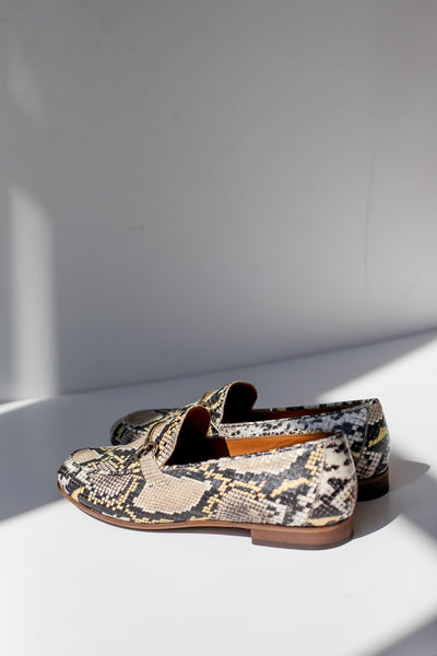 Lea Snake Yellow Loafers