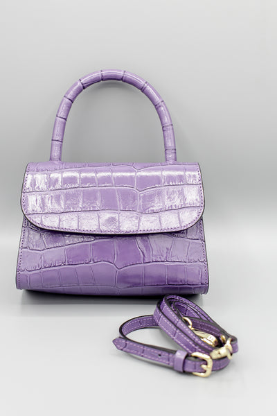 Crock Leather Bag Lilac
