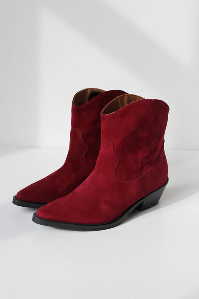 Clint Burgundy Suede Boots
