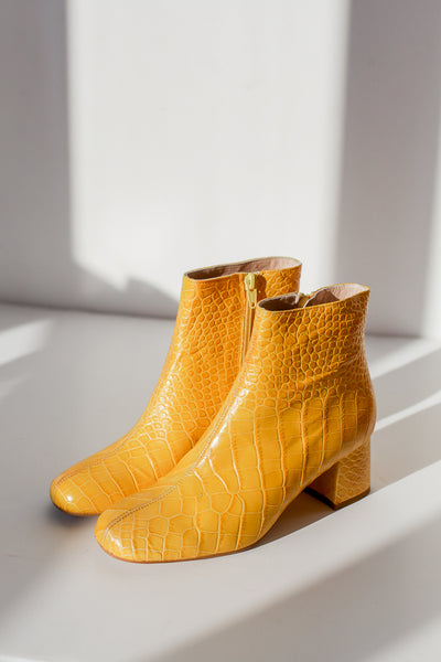 Molly Crock Mustard Ankle Boots