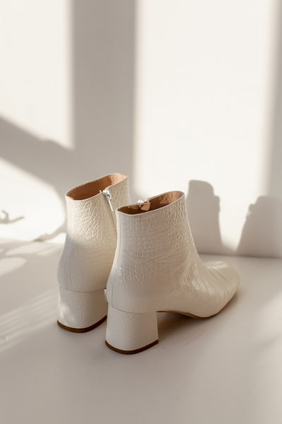 Molly Crock White Boots