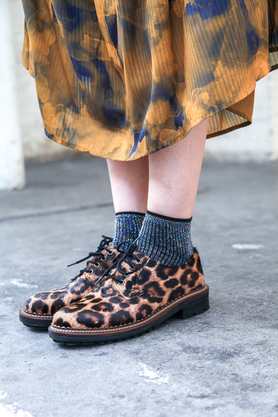 Bill Leopard Lace Up Shoes