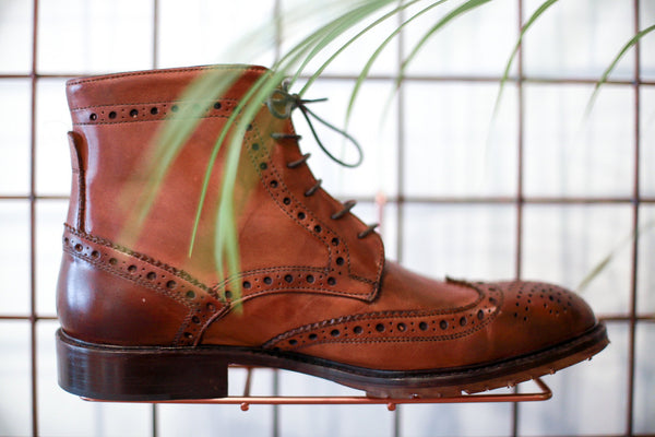 LUDOVICO BROWN LACE UP BOOTS