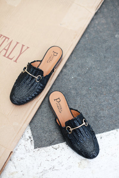 Lenny Cross Black Mules