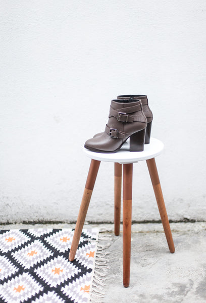 ANGIE TAUPE ANKLE BOOTS
