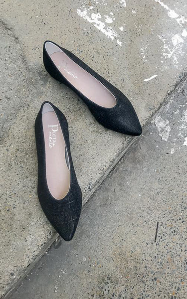 Galaxy Flat Shoes Black