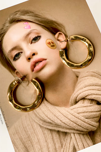 Hammered Hoops Earrings