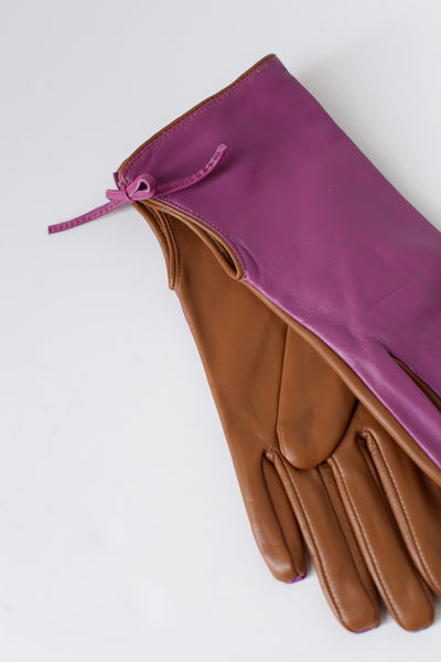Numiriall Pink Leather Gloves