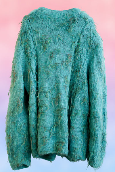 Fluffy Petrol Cardigan