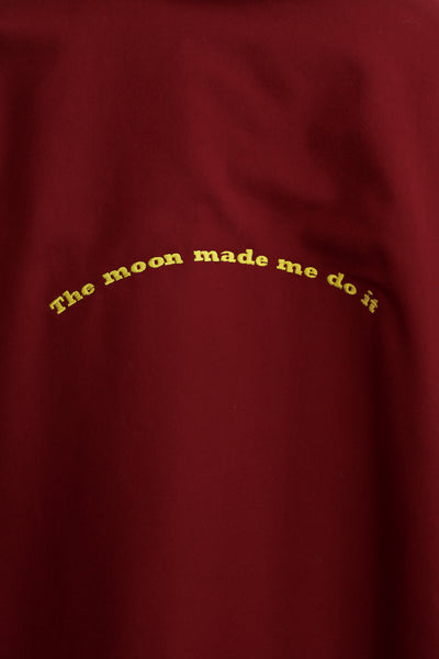 The Moon Made Me Do It Blazer Burgundy