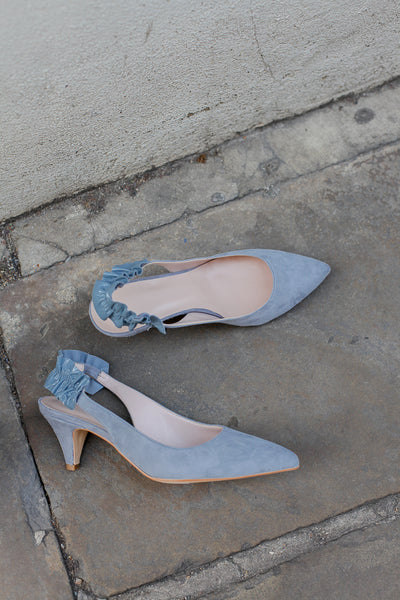 Connie Light Blue Slingback