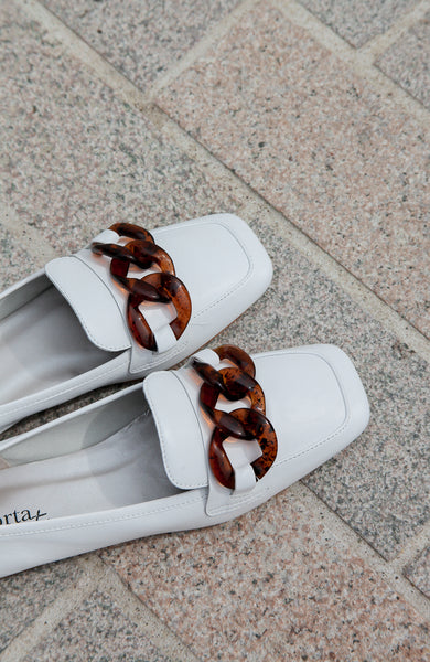 Sylvie White Loafers