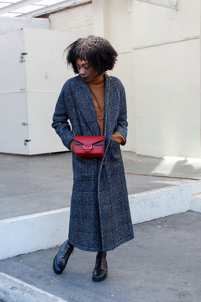 LONG CHECK COAT