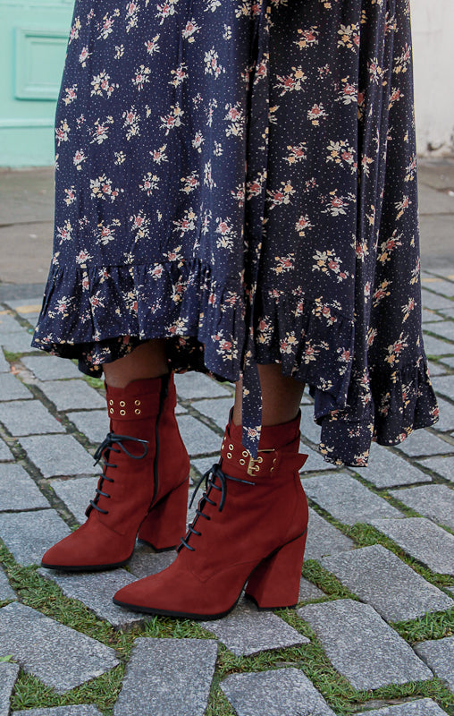 Lace Red Boots