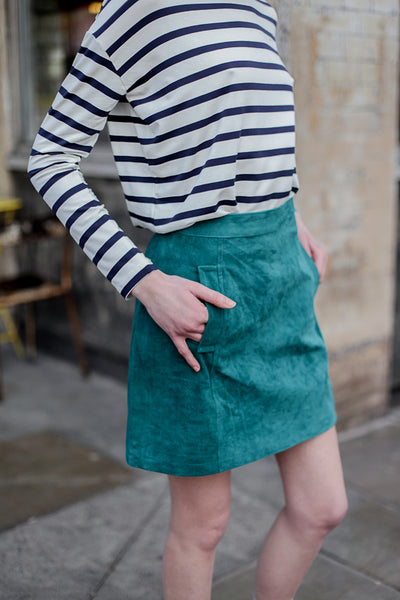 CARLA SUEDE SKIRT GREEN