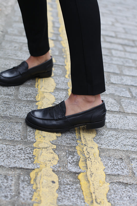Bella Black Loafers