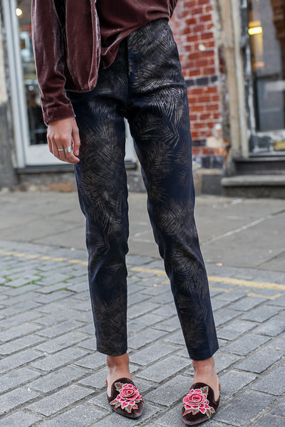LEAF PRINT TROUSERS BY YAYA