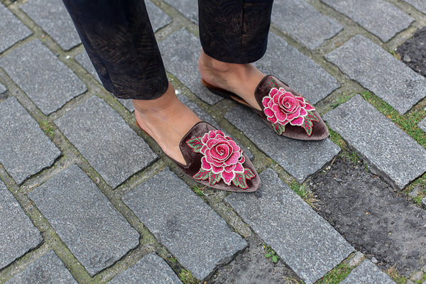ROSE SLIPPERS TAUPE