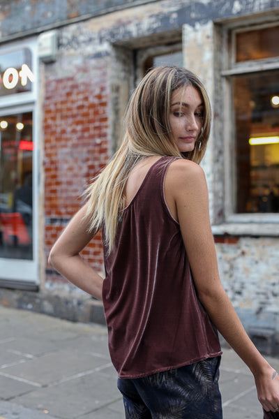 velvet vest top by numph