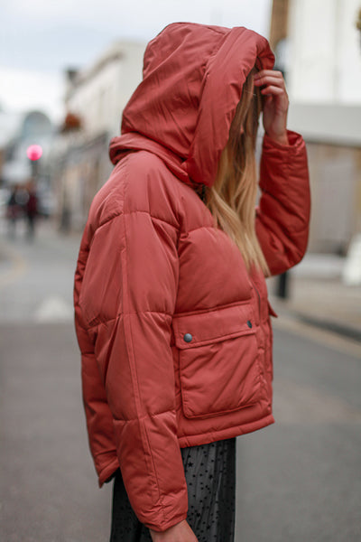 RUST PUFFER JACKET BY NUMPH