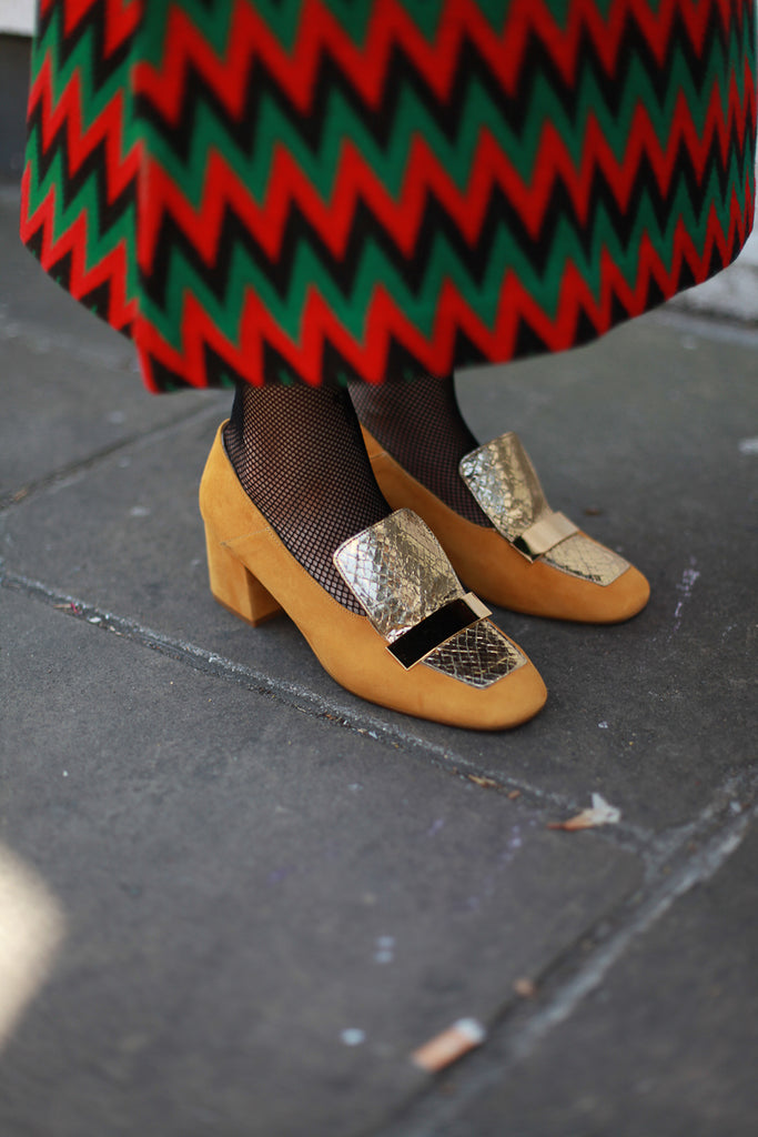Eva Mustard Loafers