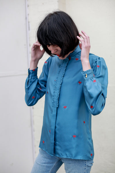 Mara embroidered silk blouse by Fabienne Chapot - Shop at S120