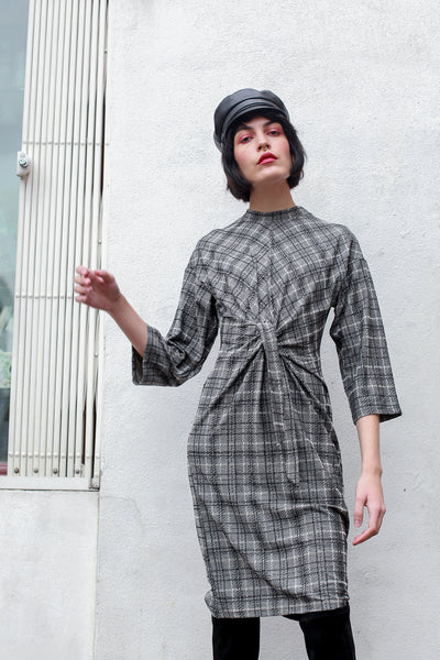 Emeny Grey Check Dress by Numph