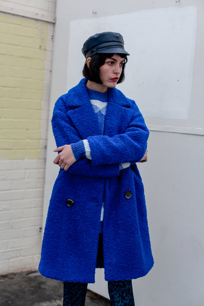 Tracey blue wool double breasted coat by MbyM - Shop at S120