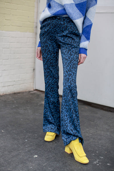 Doutzen leopard blue trousers by Fabienne Chapot - Shop at S120