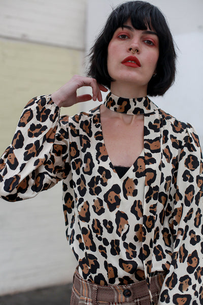 Allie Leopard Blouse by Fabienne Chapot