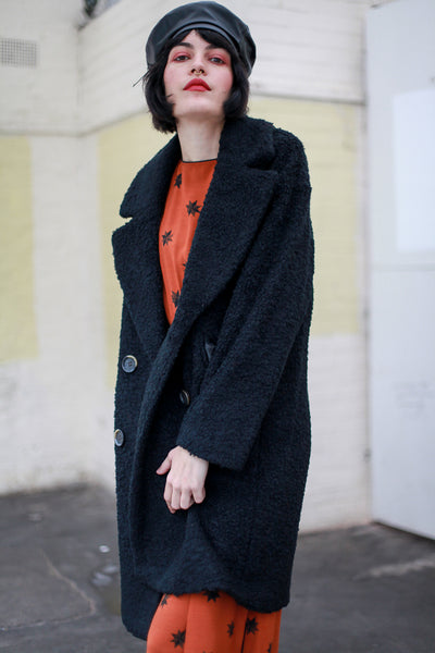 Tracey - black double breasted coat by MbyM. Shop at S120